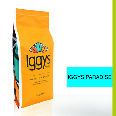 FRESHLY ROASTED PREMIUM IGGYS COFFEE BEANS  SINGLE ORIGIN 1kg IGGYS PARADISE