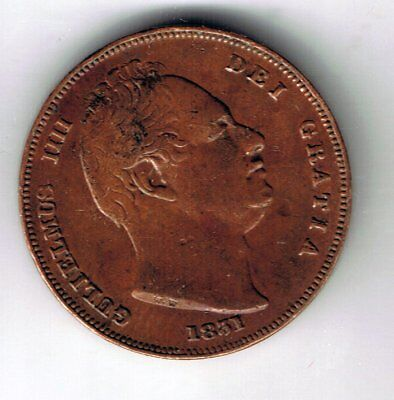 1831 William IV farthing 1/4d coin