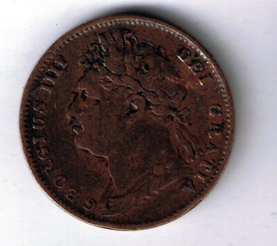 1823 George IV farthing 1/4d coin
