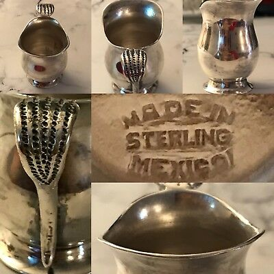 Vintage Sterling Silver Mexican Small Creamer Miniature