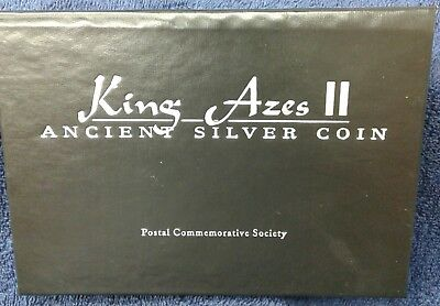 King Azes II Ancient Silver Coin PCS with COA