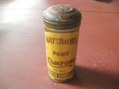 Vintage Tin Haywood's Foot Comfort Pfeiffer Chemical CO.