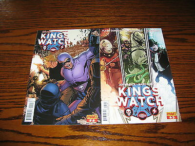 Dynamite- KINGS WATCH #2 and #5 Comic Lot!!  Glossy VF+ 2013