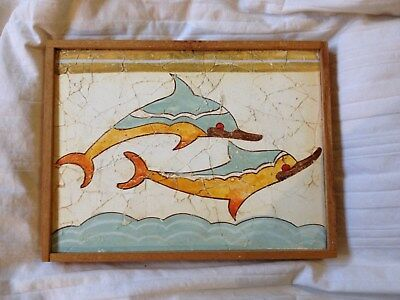 Thera Replica Dolphin Fresco as Reconstructed in Museum of Athens 1500 B.C.