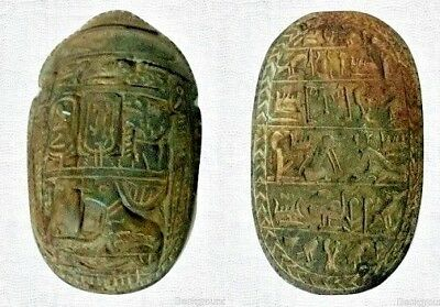 ANCIENT EGYPTIAN ANTIQUE SCARAB Carved Stone Rare Antique 1425-1385 BC