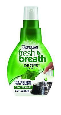 Tropiclean Fresh Breath Drops for Pets (Cats & Dogs) 2.2 oz Ships Anywhere Today