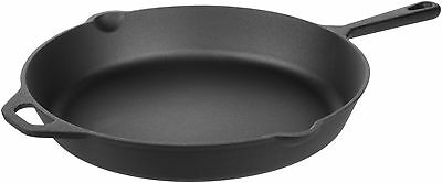 AmazonBasics Pre-Seasoned Cast Iron Skillet - 15-Inch