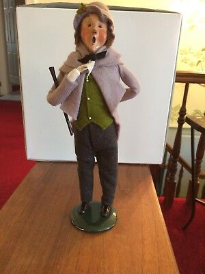Byers Choice 1999 Victorian Man in Grey with Baton