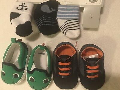 Infant 0-6 Months Socks And Shoes NWT