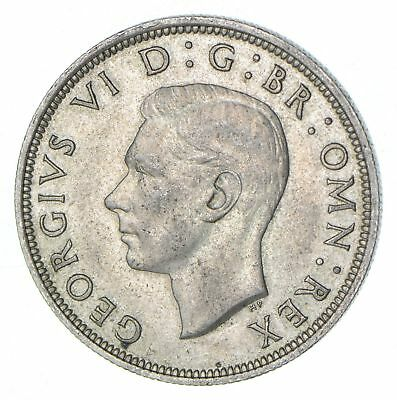 Roughly Half Dollar Size 1945 Great Britain Half Crown - Silver Coin 14.0g *465