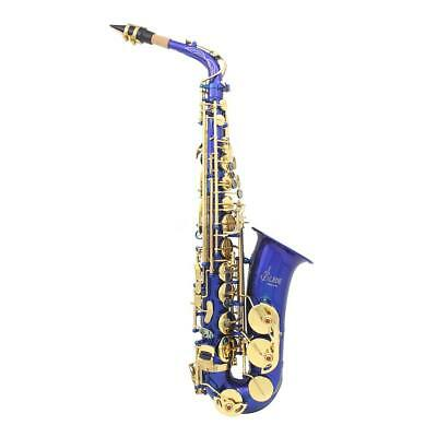 LADE New Professional Gold Eb Alto Sax Saxophone with Accessories R1B8