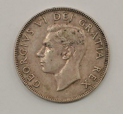 1951 Canada 50 Cents Silver Foreign Coin *984