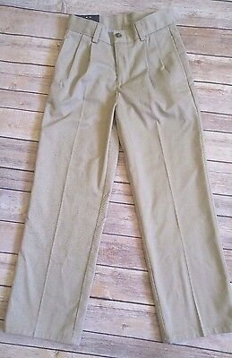 Chaps Boy's Pants Pleated Front Wrinkle Resistant Adjustable Waist  7X Reg NWT