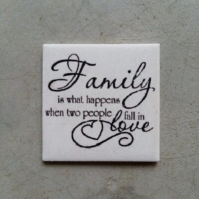 Mosaic Tile Insert ~ Family is what happens when ... ~ Mosaic Inserts, Art, C...