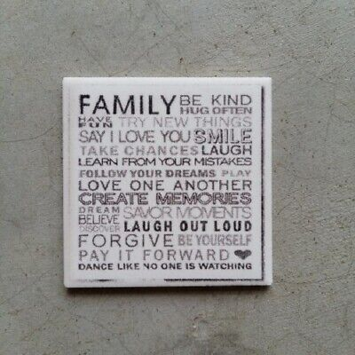 Mosaic Tile Insert ~ Family, Be kind, hug often... ~ Mosaic Inserts, Art, Cra...