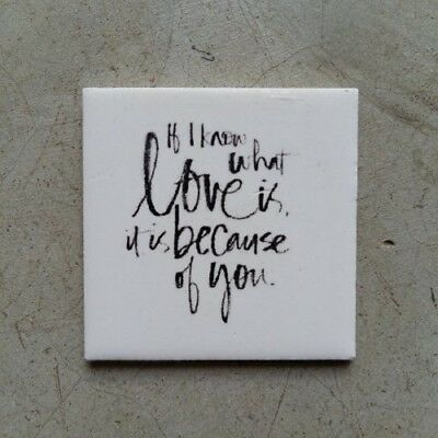 Mosaic Tile Insert ~ If I know what love is... ~ Mosaic Inserts, Art, Craft S...