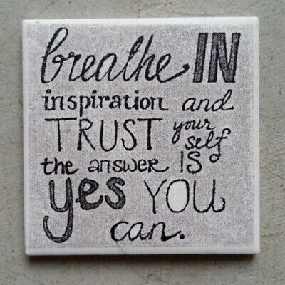 "Mosaic Tile - ""BREATHE IN INSPIRATION..."" ~ Mosaic Inserts, Art, Craft Supplies"