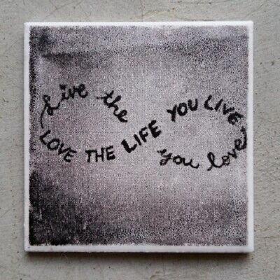 "/""LOVE THE LIFE YOU LIVE.../"" ~ Mosaic Inserts Art Mosaic Tile Craft Supplies"