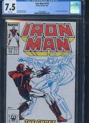 Iron Man #219 CGC 7.5 1st Appearance of the Ghost