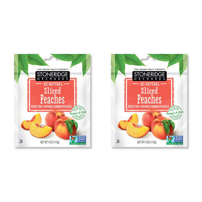 2X Stoneridge Orchards Sliced Peaches Whole Dried Fruit Gluten Free All Natural
