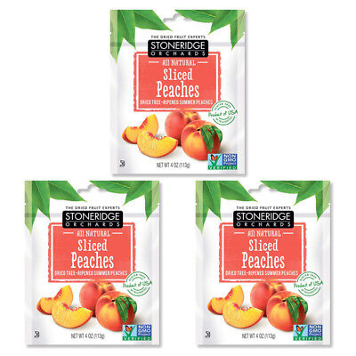 3X Stoneridge Orchards Sliced Peaches Whole Dried Fruit Gluten Free All Natural