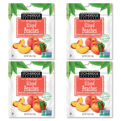 4X Stoneridge Orchards Sliced Peaches Whole Dried Fruit Gluten Free All Natural
