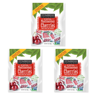 3X Stoneridge Orchards Montmorency Cherries Whole Dried Fruit Gluten Free Daily