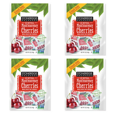 4X Stoneridge Orchards Montmorency Cherries Whole Dried Fruit Gluten Free Daily
