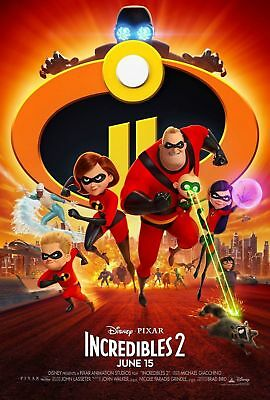 Disney Pixars Incredibles 2 Theatrical Double-Sided DS 27x40 Movie Payoff Poster