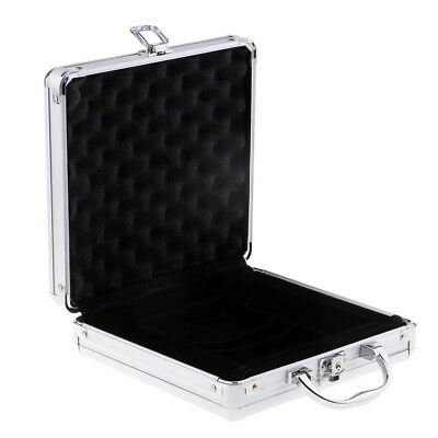 1x Aluminum Poker Chip Case Empty Storage for Playing Cards 100pcs Capacity