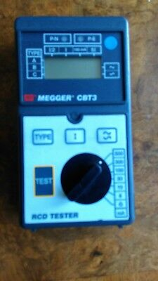 Megger Cbt3 Rcd Tester With Case And Manual