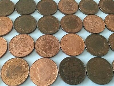 1p one pence coin english decimal collectable currency,