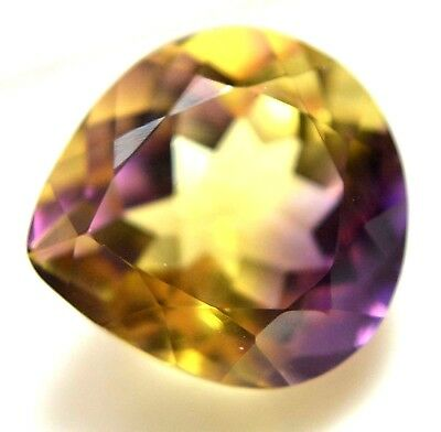 VVS 10.75 Ct Natural Yellow & Purple Untreated Ametrine AAAAA+++ Certified Gem