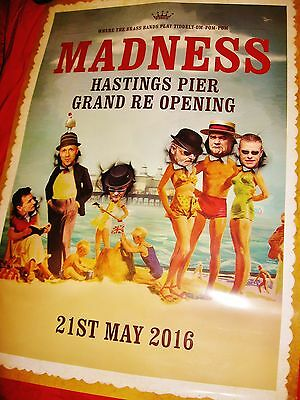 Madness - Official Hastings Pier Poster 2016 - Suggs Ska Stiff Two 2 Tone Not Cd