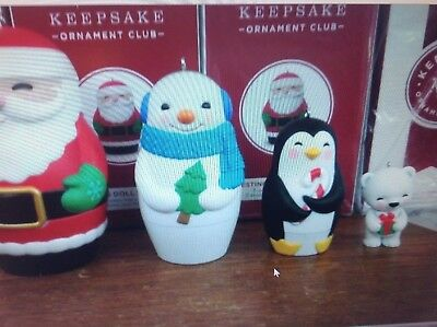 Hallmark 2018 Nesting Doll Surprise With Bear Koc Member Excl Set Of 4 Rare!!!