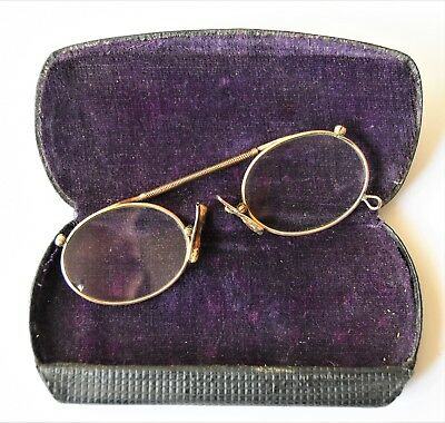 Antique Vintage Spectacles Glasses with Case