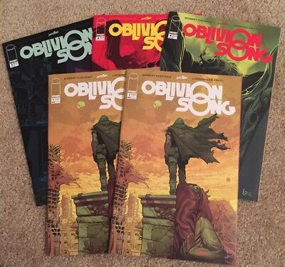 Oblivion Song Lot by Kirkman. Issues 1-4 + Rare Pink Defelici Signature! 🔥NM🔥
