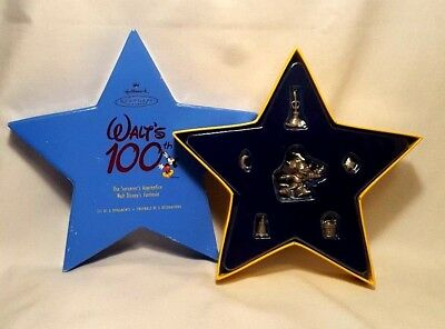 Hallmark Disney 2001 WALTS 100th Sorcerer Apprentice 6 Pewter Fantasia Ornaments