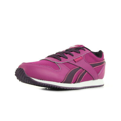 cbce85413ec Chaussures Baskets Reebok femme Royal CL Jogger taille Rose Cuir Lacets
