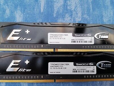 Teamgroup 2x 4GB PC4-2133P DDR4 2133MHZ