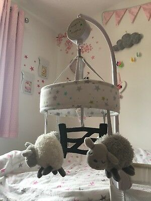 Silver Cloud Counting Sheep Musical Mobile in original carry bag