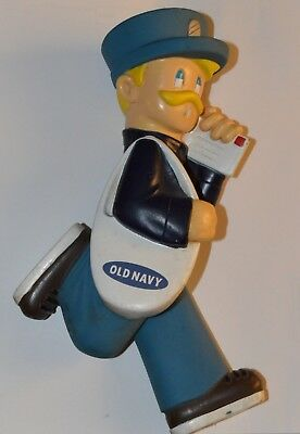 Vintage OLD NAVY Dog Toy Squeaker Mail Man Pet Very Cute