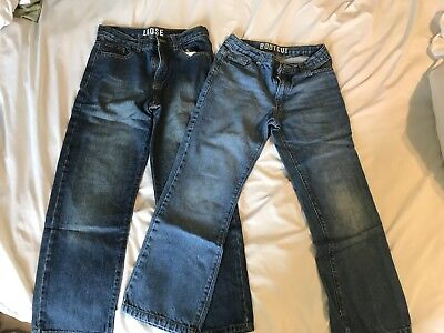 2 Pairs Boys Jeans - Size 10 Husky - Excellent Condition