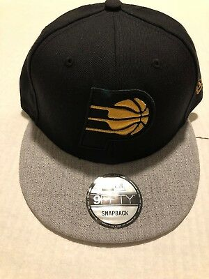 competitive price bbf05 93583 Indiana Pacers New Era Black Metal 9Fifty Snapback Hat New with stickers