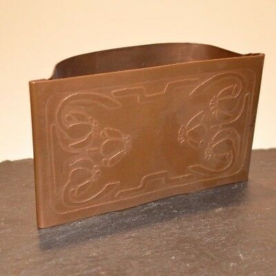 Antique Ink Blotter Etched SolidCopper Beautiful Desk Accessory Unfinished Piece
