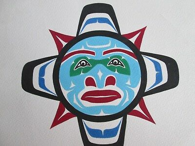 First  Nations  Acrylic  on paper ,  North Western  British Columbia