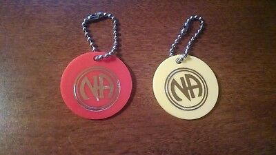RARE Narcotics Anonymous NA 1980's Keytags - 30 days and 90 days COLLECTORS