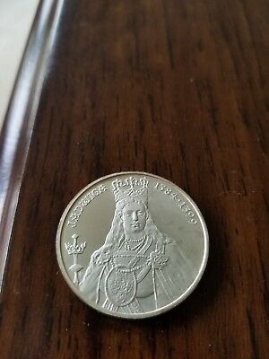 Poland 1988 500 Zlotych Y#181 - Queen Jadwiga 1384-1399 Perfect Proof