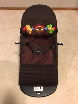 BABYBJORN Baby Bouncer Balance Soft + Wooden Toy Attachment - Brown - $1.00