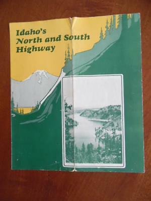 c.1930 IDAHO'S NORTH AND SOUTH HIGHWAY Map Brochure US Route 95 Vintage ORIG.